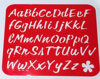 Alphabet Stencil (Flower) **Introductory Price!!**
