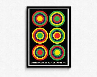 Vintage Cuban Poster - Premio Casa De Las Americas 1973