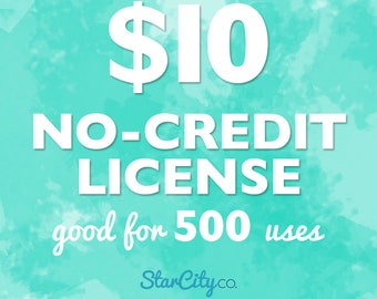 No-Credit Commercial License for up to 500 uses, Commercial License, Clipart License, Commercial use for clipart