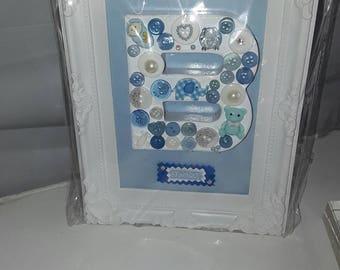 It's a boy button  picture.
