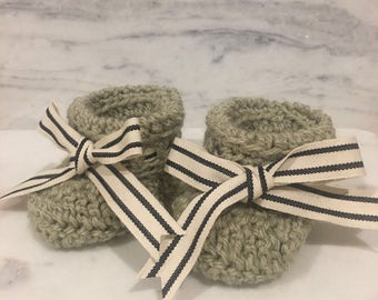 SALE! Crochet baby booties