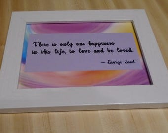 Framed Quote 4 x 6