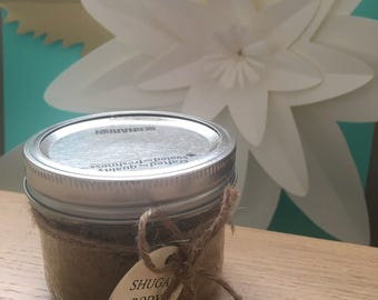 Brown sugar body scrub and moisturizer