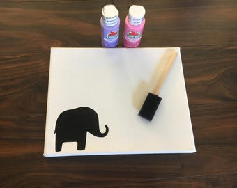 Animal canvas craft kit