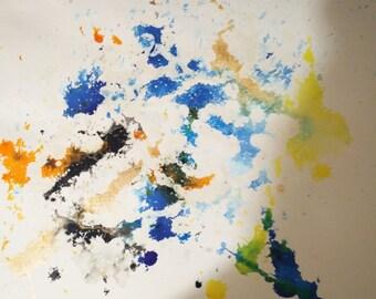 1 square foot of splatter paint