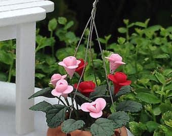 Fairy Garden Doll House Miniature Hanging Flower Pot