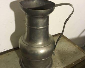 Antique pewter pitcher jug old