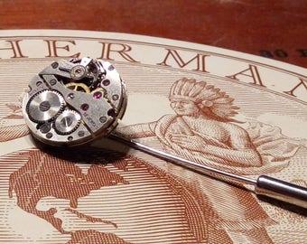 Steampunk lapel pin