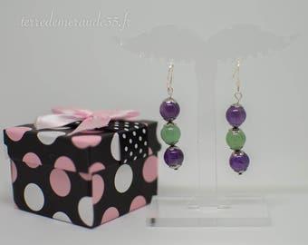Pearl Amethyst earrings / Aventurine