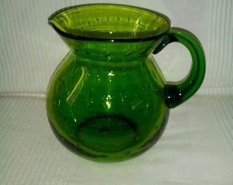 Mouth blown glass jar
