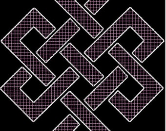 Endless Knot Embroidery Design
