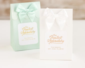Personalized Metallic Foil Wedding Candy Bags (set of 12)