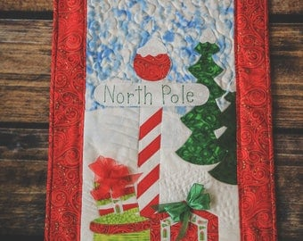 North Pole Quilted Wall Hanging