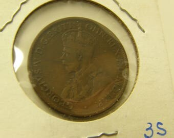 Australia 1913 Half Cent Copper Coin - A Very Nice Coin