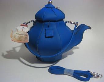 RETIRED Pylones Inspired Teapot Purse (Cobalt Blue)