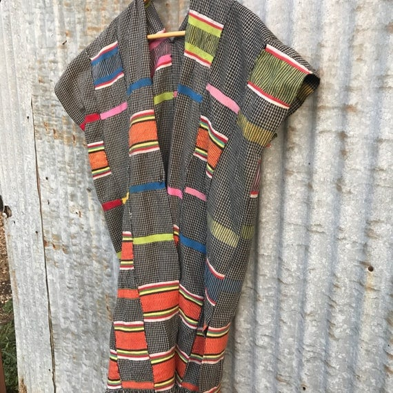 Amazing Technicolor Dreamcoat • Beach Kimono • Handwoven Tunic