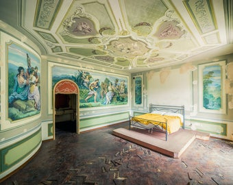 Fine art photography from a bedroom in an abandoned Villa in Europe