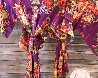 Sale! Flower Girl Robe, Flower Girl Gift, Kid Robe, Flower Girl Robe, Flower Girl Gift, Floral Robe