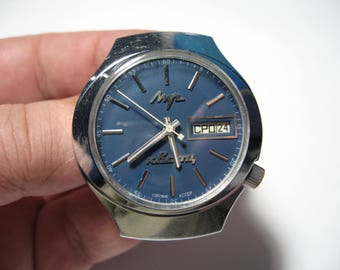 USSR LUCH 3055 electronic-mechanical watch with balance and quartz-stabilized!