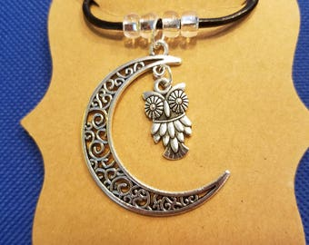Night Owl Moon Necklace
