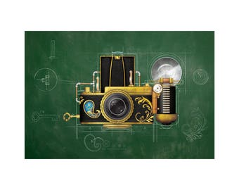 Steampunk Camera Signed & Numbered Limited Edition Print