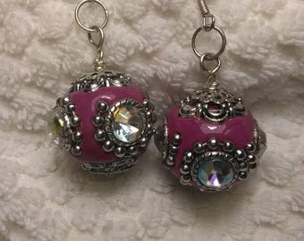 Magenta Jewel Treasure Earrings