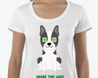 ADOPT A DOG T-SHIRTS - Black and White Dog