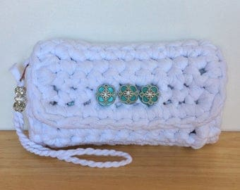 Clutch Bag, Clutch Purse, Bridal Clutch, Bridesmaid Clutch, Womens Purse, Handbag, Chunky Clutch, Crochet Clutch Bag, Formal Evening Purse