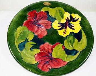Moorcroft Big Hibiscus Plate