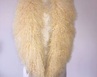 Mongolian Fur Vest - Golden