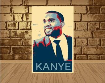 kanye west poster,kanye west print,kanye west art,kanye west,poster art,print poster,rap poster,rap print,kanye poster,kanye print,music art