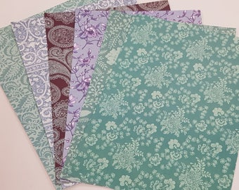 Floral Design A4 Heavyweight Paper for Craft Card Making Scrapbooking
