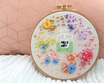 Plants perfume embroidery, broderie parfum herbe