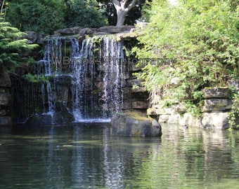 Waterfall/Waterfall photograph/Lakeside/Trees/River/Scenic photography/Nature/Woodlands/Stream/Rocks/Forest/Home/Fine art/