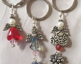 Keychains with angels and accents