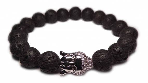 The silver Buddha bracelet