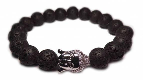 The silver Buddha bracelet