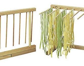 Beechwood Collapsible Pasta Drying Rack  pasta maker  machine  spaghetti