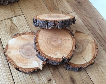 "Log Slice Coasters - Douglas Fir - 4""-5"" - 10 total coasters"