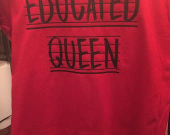Vinyl Educated Queen T-Shirt