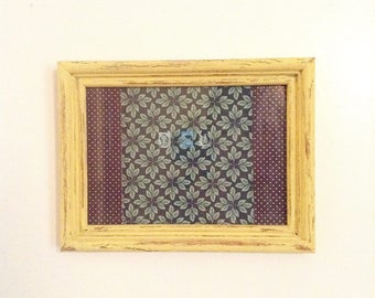 Shabby Chic, Hand-Painted, Maize Yellow, Chalk Piant Picture Frame