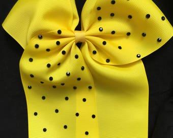 yellow cheer bow