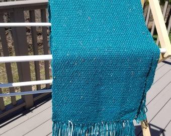 Jade Green Multicolor Flecks Acrylic/Wool Scarf