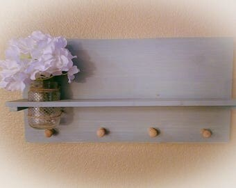 Mason jar vase wall hanging