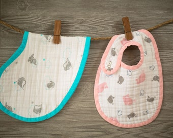 Baby BIB & BURP CLOTH Digital Download  Sewing Pattern - Aiden and Anais Inspired