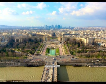 "14""x11"" Photo Print: Eiffel Tower View Paris."