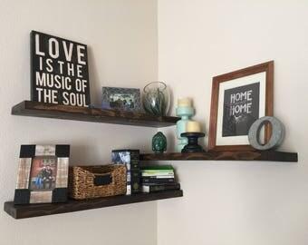 Floating Shelves // Modern Shelves // Rustic Shelves // Built to Order Wood Shelve