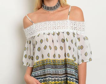 off the shoulder top with detail