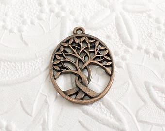 Tree Pendant, Tree of Life Pendant, Copper Tree of Life, 31mm x 24mm, COPP005
