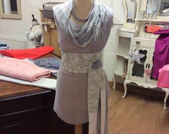 Grey Lace & Ivory obi Belt
